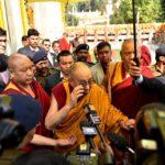 达赖喇嘛尊者于今早离开菩提迦耶前往比哈尔邦首府巴特纳市