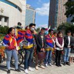 """台北市议员声援""""为西藏自由而骑""""支持西藏人权"""