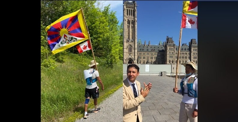 加国流亡藏人为西藏徒步巡游,获国会议员高度赞赏