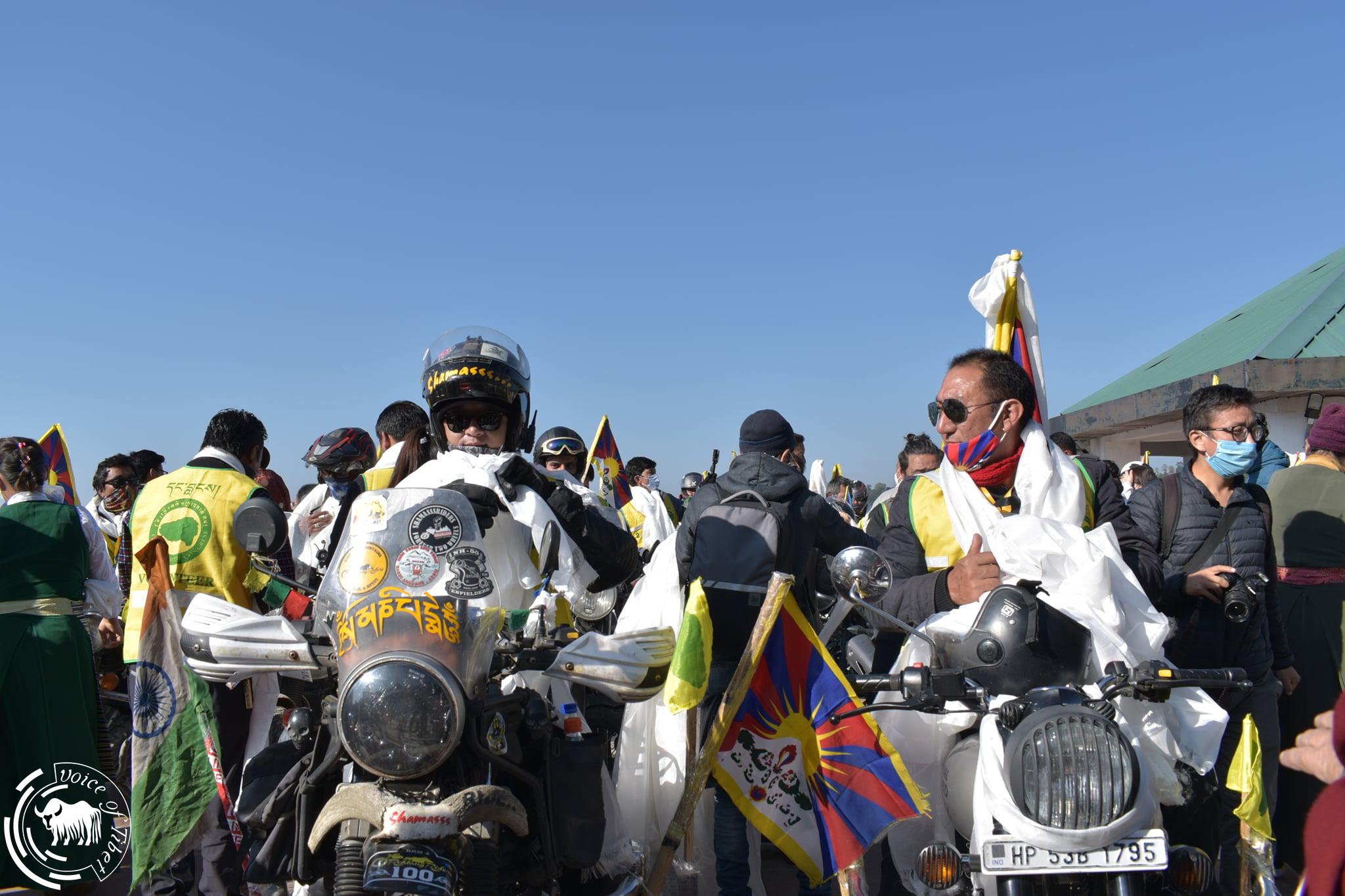 摩托车巡游至藏印边境:西藏青年会要求中共释放比如藏人政治犯