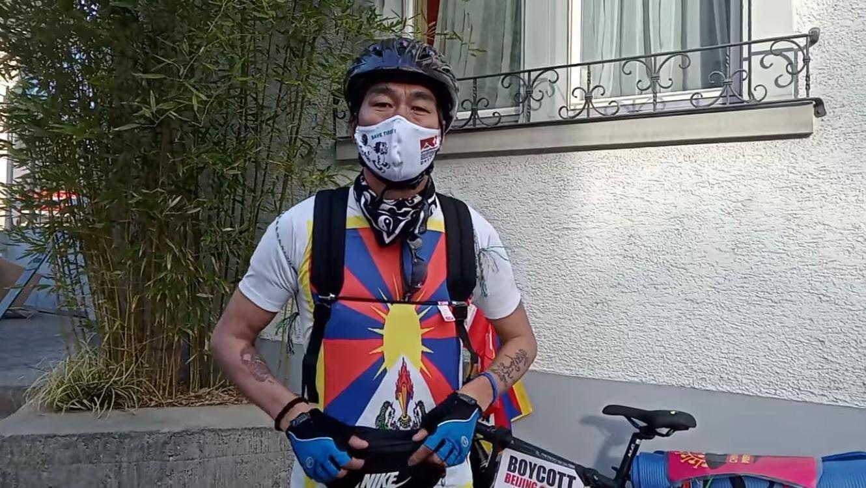 藏人次仁旺堆圆满结束对瑞士十大城市展开的单车巡游活动